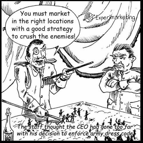 Marketing Army Comic
