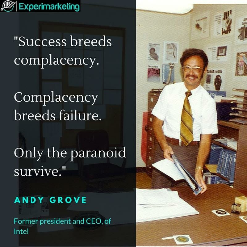 Andy Grove only the paranoid survive quote