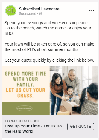 Subscribed Lawn Care Appeal-based Ad 1.0