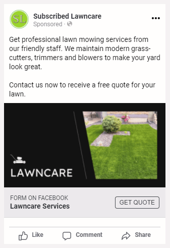 Subscribed Lawn Care Direct Ad 2.1